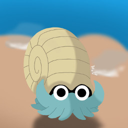 pokemon omanyte pokemongo pokemonedit drawing digitalart
