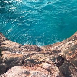 freetoedit sundaymorning beautifuldays warmweather poolmood rocks waterfall water poolwater bluewater highangleshot