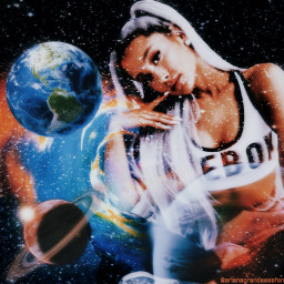 arianagrande ariana grande planets galaxy stars myedit godisawoman