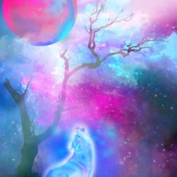 fantasyart makebelieve wolf dreamy surreal surrealistic aesthetic stickers vignetteeffect brushtool smokebrush heypicsart artisticedit becreative myedit madewithpicsart freetoedit