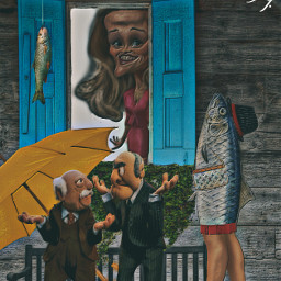 how waldorf statler muppets window reesewhiterspoon yellowumbrella bench owncreation fish hat handbag legs freetoedit
