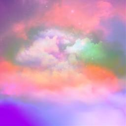 freetoedit picsart sky background colorful clouds pinksky remix remixit