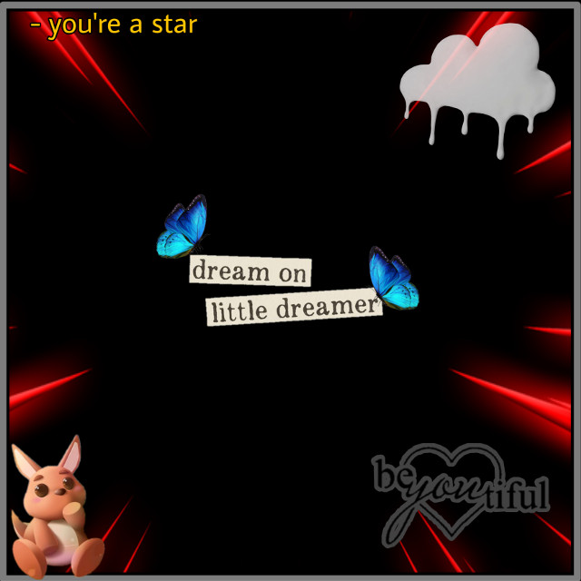 #kangaroo #blackbackground #neonred #red #neon #youarebeautiful #beautiful #dreamonlittledreamer #butterfly #behappy #cloud #whitecloud