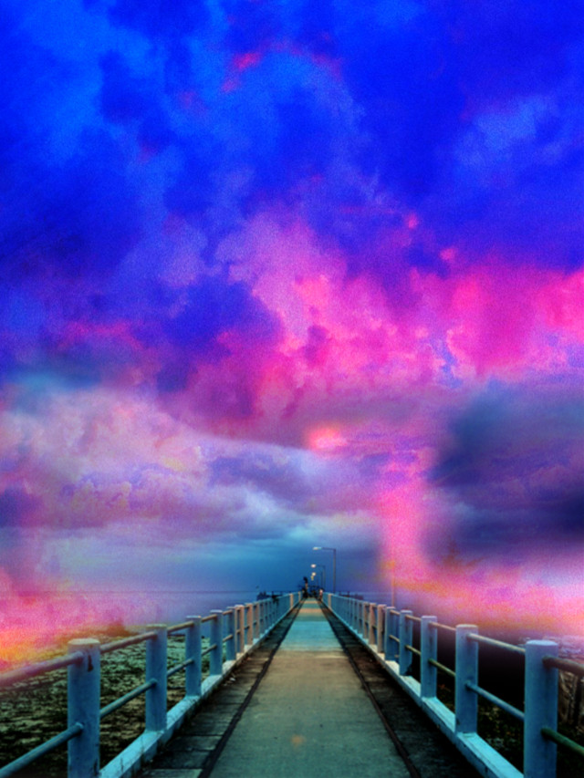 #fantasyart #fantasyworld #fantasybackground  #background #backgrounds #backdrop #bridge #pier #nightsky #clouds #dreamy #surreal #surrealistic #heypicsart #myedit #madewithpicsart
