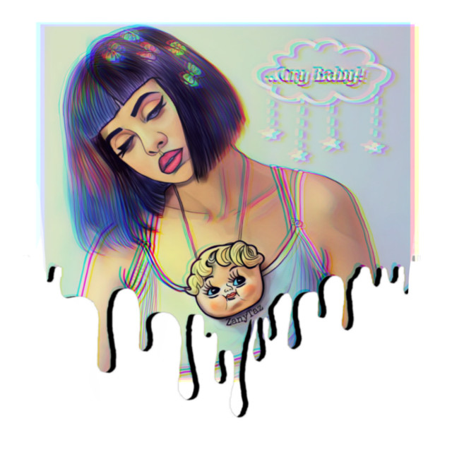 #melaniemartinez is here for you! #makeawesome #crybaby #portrait #drawingbyme #art #sketch #outline #outlineart #trendy #celebrity #singersongwriter #drawing #faceart #expressions#illustration #style #melanie_martinez 💙 #freetoedit
