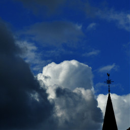 kinora cloudsandbluesky clouds bluesky topofchurch church