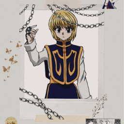 kurapika hunterxhunter anime chainsaesthetic phantomtroupe freetoedit