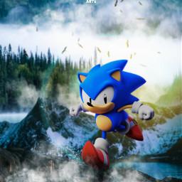 sonic sega hedgehog videogames fanart nature unsplash alienized wallpaper uhd editedwithpicsart
