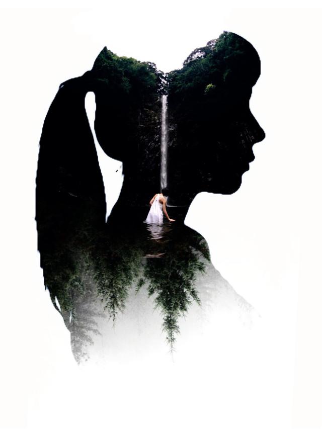 #freetoedit #heypicsart #picsart #myedit #doubleexposure #girl #silhouette #araceliss #makeawesome #forest