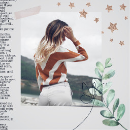 picsart freetoedit pa remix remixit edit replay trending effects stickers beautiful vintage aesthetic aestheticedit collage girl person stars words text leaf shadow butterfly tape gray