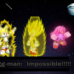 supertails supersonic hyperknuckles eggman sonic5 freetoedit
