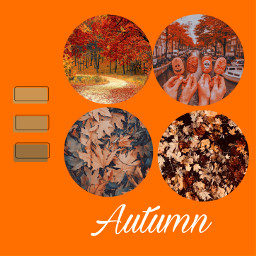 autumn october orange hallowen fall color vibtage viral famous trending spooky icecream pumpkin leafs avani zoe charli addison loren crown heart queen freetoedit