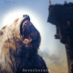 height contrast cliff girl bear roar echo freetoedit unsplash