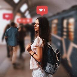 лайк инстаграм девушка метро пиксарт like instagram metro girl picsart freetoedit