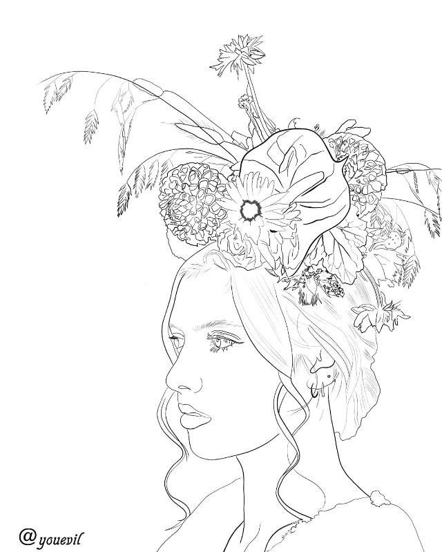 #outline#outlineart#pureoutline#realoutline#yourstocolor#colorit#outlineversion#dibujo#disegno#myillustration#mydrawing#floral#autumn#autumnflowers#inspo#inspiration
