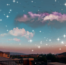 cute glitter ombre ombrebackground ombrestyle sky anime animeaesthetic purple blue neighborhood balcony clouds cloudsandsky pretty aesthetic