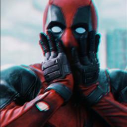 deadpool marvel deadpoolmovie mcu glitch wallpaper larissalacaria myedit viral freetoedit red blue