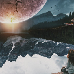 freetoedit madewithpicsart myedit myremix surreal picsarteffects picsart picsartlovers picsarttools digitalart photomanipulation photoart papicks paralleluniverse makeawesome sky planets upsidedownworld