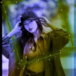 replay picsartreplay neon portrait image freetoedit