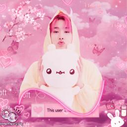 freetoedit monstax wonho hoseok leehoseok leewonho soloist kpop pink pinkaesthetic