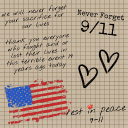 usa twintowers wtc worldtradecenter rememberance hearts neverforget thankyou flag freetoedit