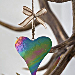 heart bow hanging antlers