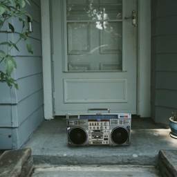 freetoedit remixit house outside nature boombox music stereo photography