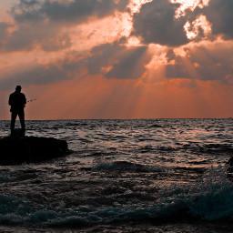 sunset landscapephotography nature remixed sea
