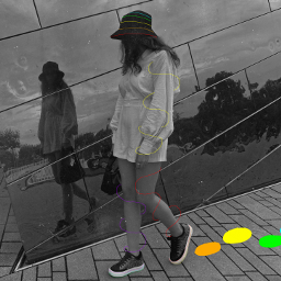 colourful blackandwhite madewithpicsart rainbow brightcolours