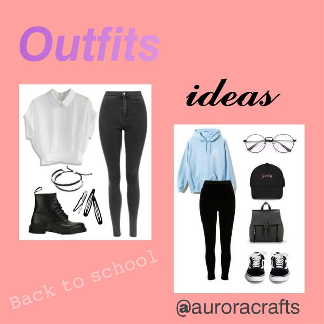 Ecco come promesso qualche idea sugli outfits per tornare a scuola.Quale vi piace di più? LIKE PER LA PARTE 2🥰 #backtoschool #school2020