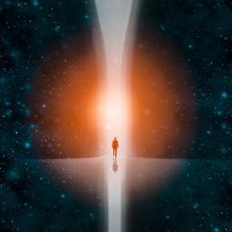 lightbeam sun universe stars freetoedit