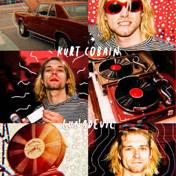 kurtcobain kurt cobain kurtcobainnirvana kurtcobainedit kurtcobaincomesaveus nirvana nirvanaforever red retro grunge vintage aesthetic