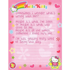 hellokitty sanrio pink glitter kawaii mymelody quote baddie indie nostalgia y2k 2000s kidcore retro alt hobicore aesthetic messy soft softcore tumblr 90s cute childhood freetoedit