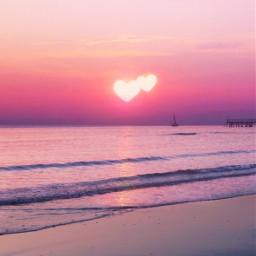 freetoedit heartsunrise heartsunset sunset sunrise