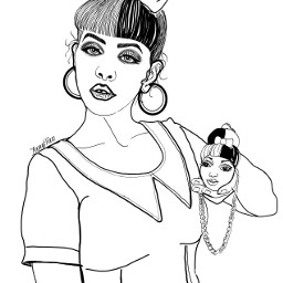 melaniemartinez outline drawing sketch illustration outlineart colorme freetoedit
