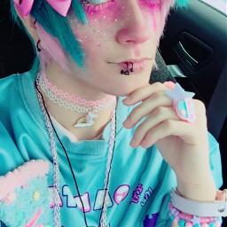 freetoedit cazfhey yamikawaii creepycute spooky pastel pastelboy pastelhair pastelemo pinkhair pinkboy catboy nekoboy anime animeboy kawaii kawaiiboy fairykei streetfashion pastelgoth pastelguro pastelgore makeup cute cuteboy