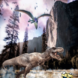 freetoedit minions universal fanart tyrannosaurus run saveyourlife nature unsplash alienized wallpaper uhd editedwithpicsart