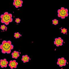 indiekid aesthetic frame indiekidflower flowersmileyface freetoedit