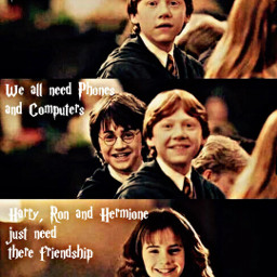 ronweasley harrypotter hogwarts friendship hermionegranger emmawatson rupertgrint danielradcliffe magic phones computers remember freetoedit remixit always aesthetic