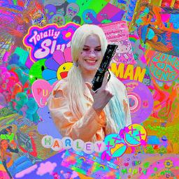 harleyquinn harley quinn kidcore aesthetic kidcoreaesthetic edit aestethicedit complex complexedit shapeedit overlay overlayedit overlays rainbow rainbowaesthetic color colours colorful indie indiekid indies pink freetoedit pfp