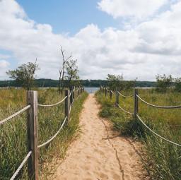 freetoedit dunes sky sea cyan clouds path coastline nature trip bluesky