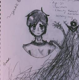 creepy doodle art yeet creepyart demon korean gay anime creepydoodle yee