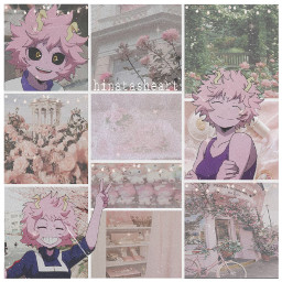 mina pink mha minaedit anime pinkanime pinkmina edit art pinkedit pinkart wallpaper remake background aesthetic cottagecore softcore vintagecore lights borders pinkaesthetic aestheticart aestheticbackground aestheticedit softpink