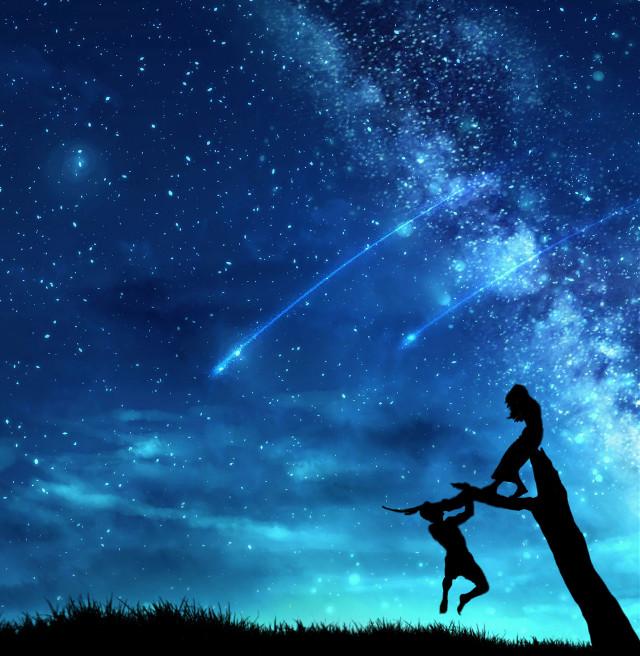 #couple #galaxy #picsartreplay #myedit #myimagination #shine #remixed