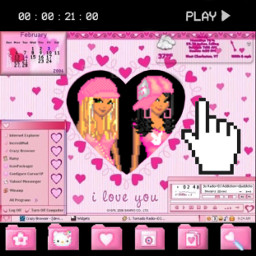 y2k y2kaesthetic y2kpink y2kbrat y2kfashion pink aesthetic egirl cute maniadollz dollz myspace freetoedit