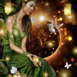 freetoedit women surrealism mouse butterfly
