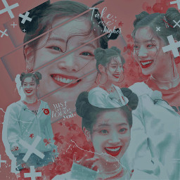 dahyun twice twicedahyun dahyunedit twiceedit kpop edit kpopedit kpopedits simple simpleedit aesthetic aestheticedit red teal