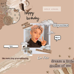 freetoedit felix straykids virgo happybirthday happyfelixday happybirthdayfelix aussie australian stay kpop kpopedit