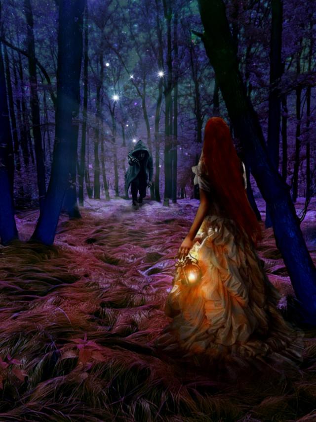 #heypicsart #mastershoutout to @mohamadalikhanjani #magical #forest #fantasy #surreal #girl #myedit #madewithpicsart #picsarteffects