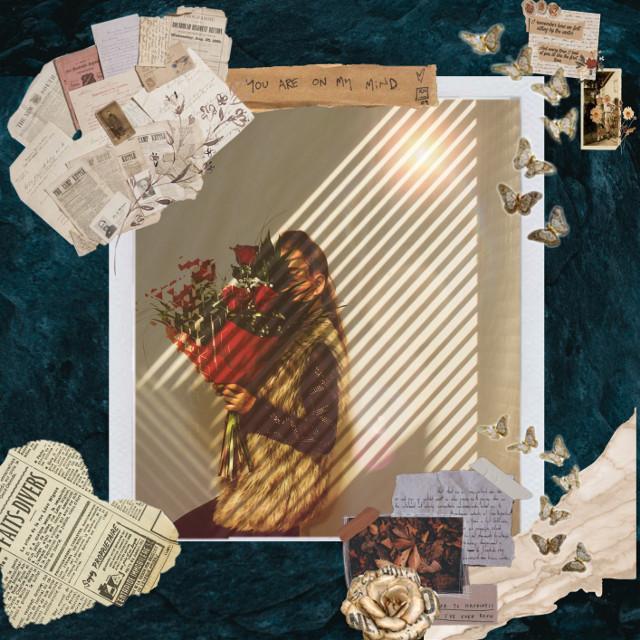 #newspaperedit #newspapercollage #rose #editedbyme #art #fashion #frame #newspaper #filter #photostory #girl #girlwithglasses
